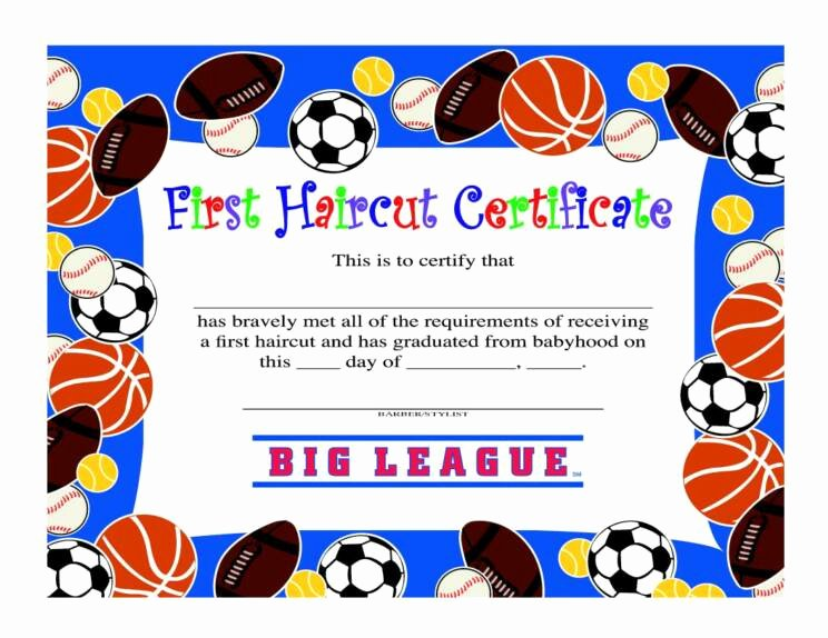 First Haircut Certificate Free Template Lovely First Haircut Quotes Quotesgram