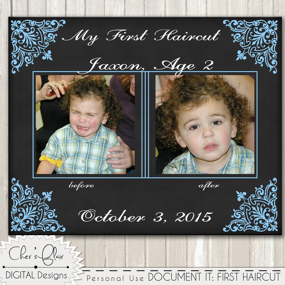 First Haircut Certificate Template Beautiful First Haircut Certificate Baby First Haircut by