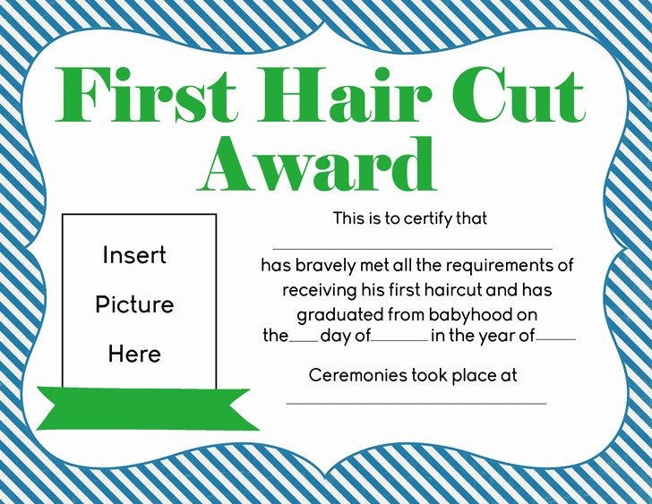 First Haircut Certificate Template Fresh 3 First Haircut Certificate Free Download