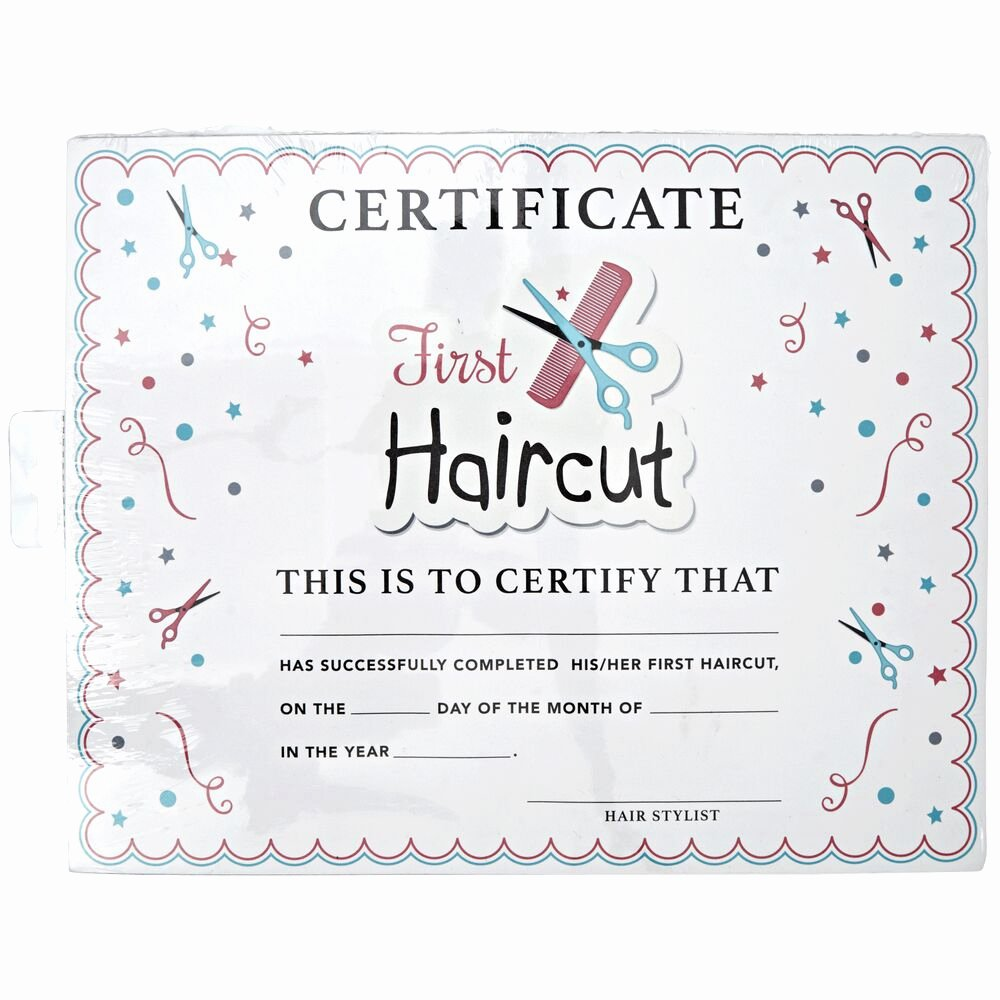 First Haircut Certificate Template Lovely Salon Care My First Haircut Certificate