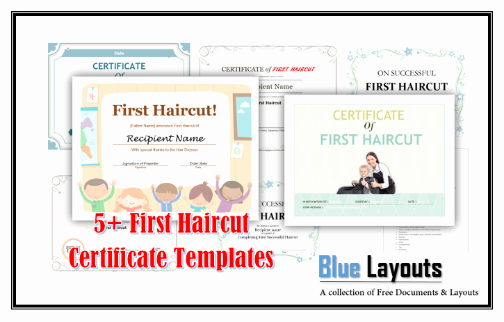 First Haircut Certificate Template Unique First Haircut Certificate Templates Blue Layouts