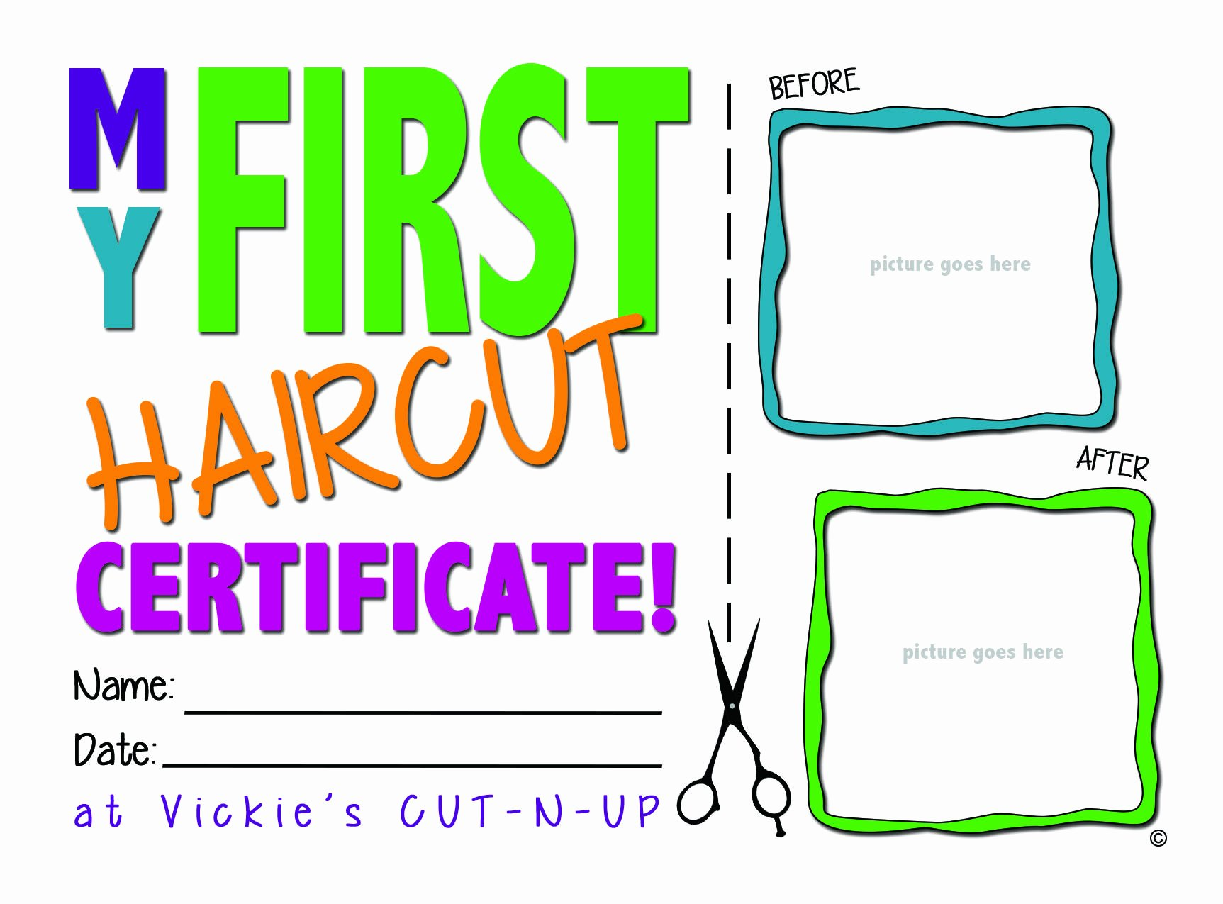 First Haircut Certificate Template Unique Printable Haircut Certificates Creativehobbyore
