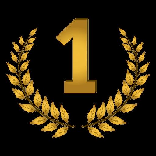 First Place Ribbon Png Elegant 1st Place Laurel Badge Transparent Png & Svg Vector