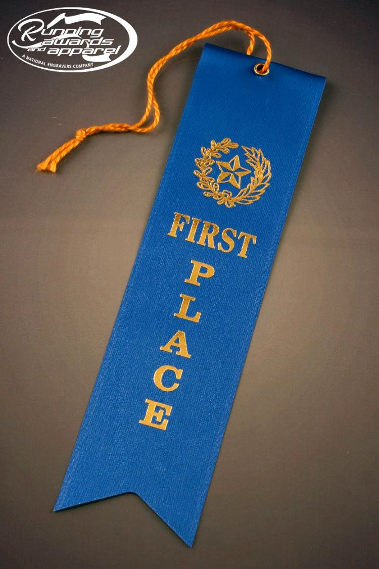 First Place Ribbon Printable Beautiful Color Card and String Race Ribbon Perfect for Your