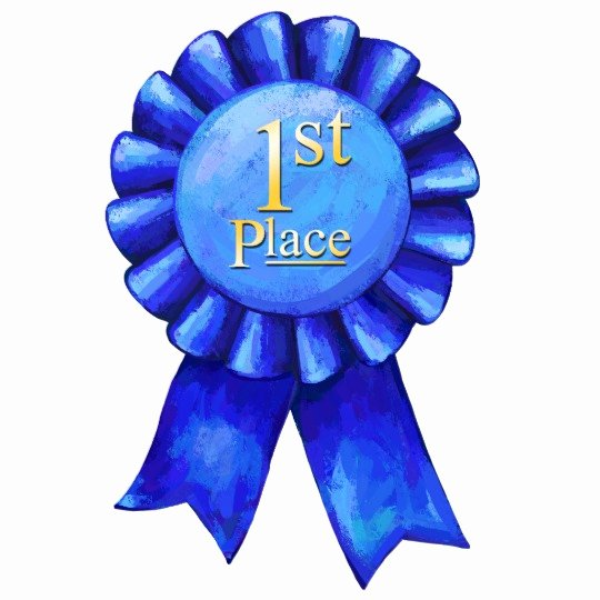 First Place Ribbon Printable Luxury Blue Ribbon 1st Place Cutout