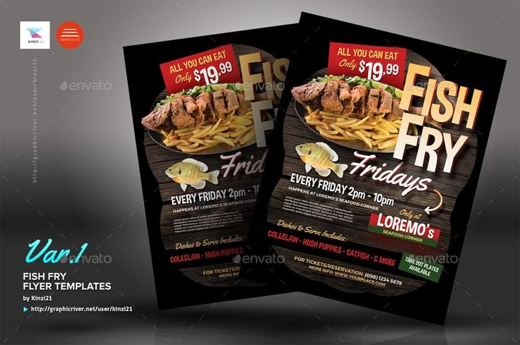 Fish Fry Flyer Examples Awesome Fish Fry Flyer Templates