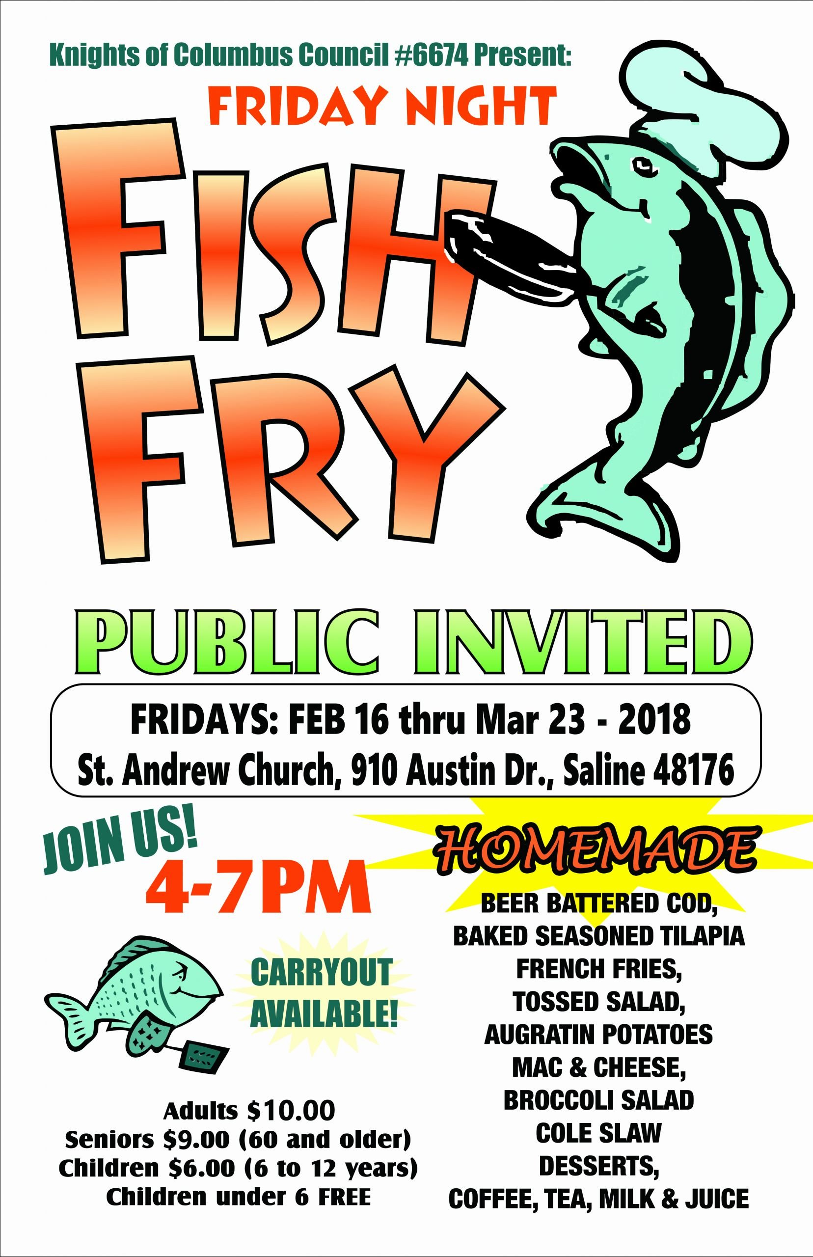 Fish Fry Flyer Examples Beautiful Knights Of Columbus Fish Fry
