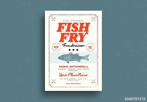 Fish Fry Flyer Examples Elegant Fish Fry Fundraiser Flyer Layout Buy This Stock Template
