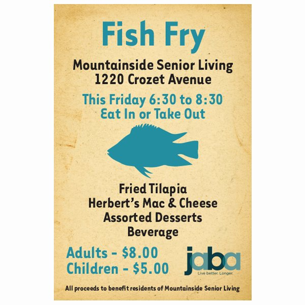 Fish Fry Flyer Examples Fresh Graphic Design Printsource Of Virginia