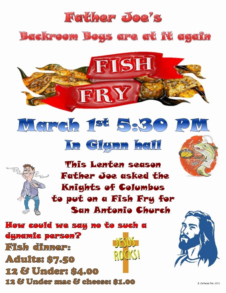 Fish Fry Flyer Examples Inspirational Fish Fry Council 9195 – Knights Of Columbus orange Co Ca
