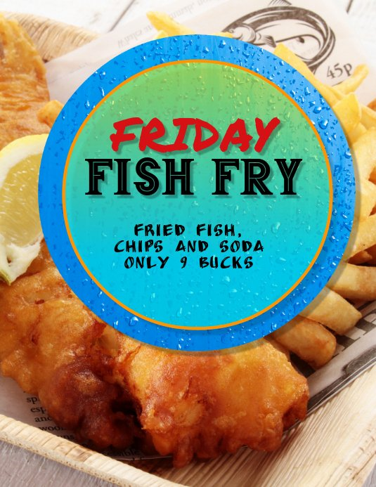 Fish Fry Flyer Examples Unique Fish Fry Fried Fish Flyer Template