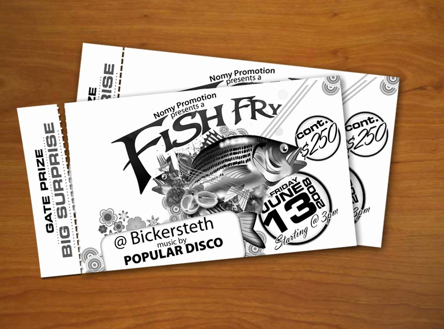 fish fry tickets templates