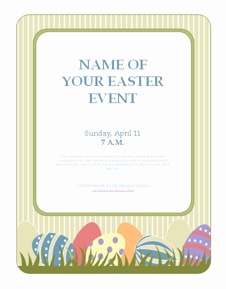 Fish Fry Flyer Microsoft Word New Flyers Templates Flyer for Easter event with Eggs event