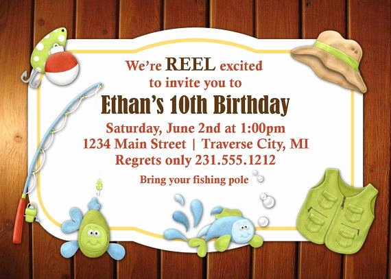 Fishing Gift Certificate Template Awesome Fishing Invitation Kids Fishing Party Invitation You