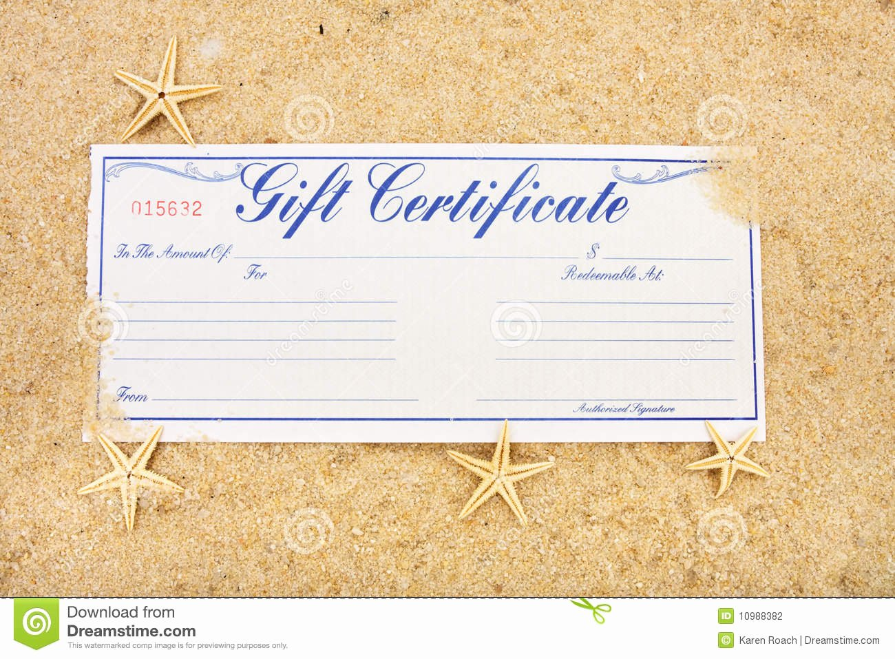 Fishing Gift Certificate Template Awesome Vacation Gift Certificate Stock Photo Image Of Shopping