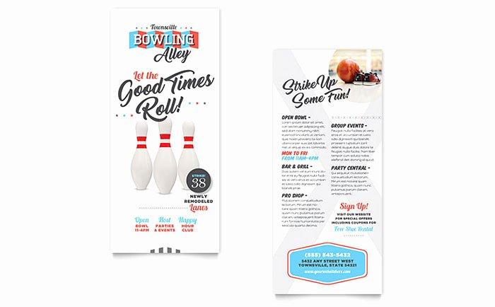 Fishing Gift Certificate Template Beautiful Bowling Rack Card Template Design