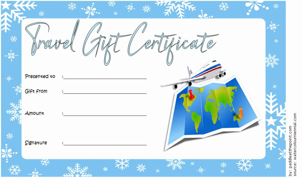 Fishing Gift Certificate Template Best Of Travel Gift Certificate Editable [10 Modern Designs]