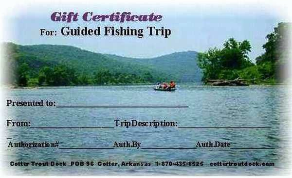Fishing Gift Certificate Template Elegant Gift Certificate for Our Guided Fishing Trips at Cotter