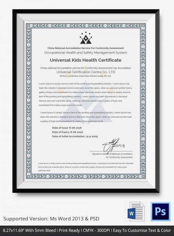 Fishing Gift Certificate Template Elegant Kids Certificate Templates 8 Free Pdf Psd Vector