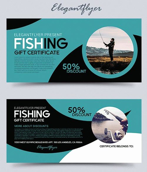 Fishing Gift Certificate Template Fresh 40 Premium and Free Print Ready Gift Voucher Psd