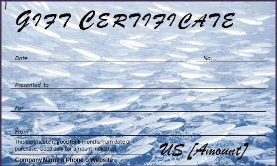 Fishing Gift Certificate Template Luxury 40 Gift Certificates Templates for Any Occasion