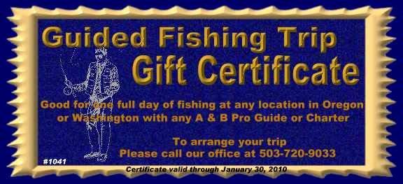 Fishing Gift Certificate Template New astoria Fiahing Guide Charters oregon