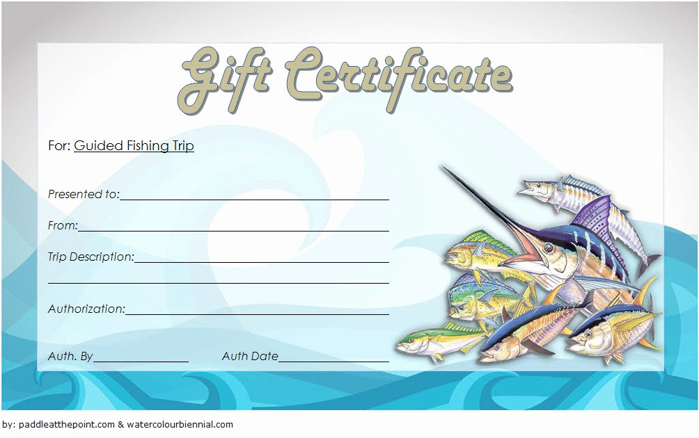 fishing t certificate editable templates