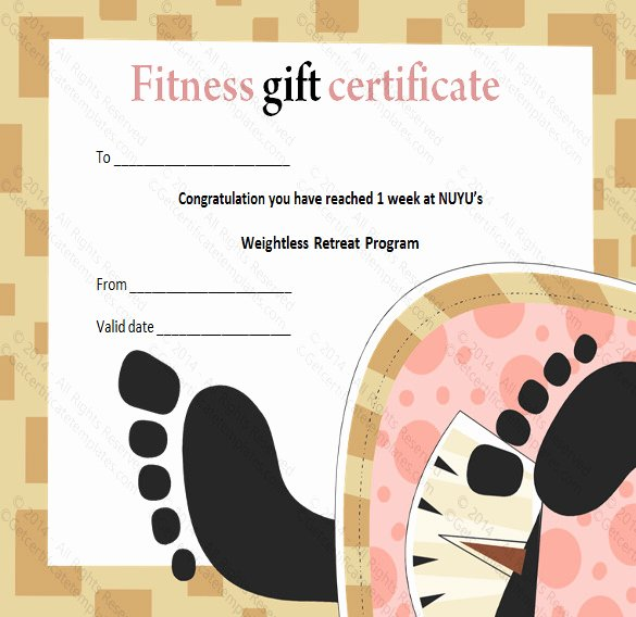 Fitness Gift Certificate Template Fresh 3 Fitness Gift Certificate Templates – Free Sample