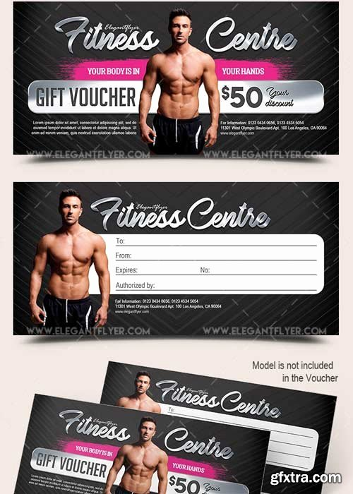 Fitness Gift Certificate Template New Fitness Centre V2 Premium Gift Certificate Psd Template