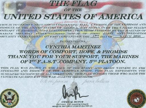 Flag Flown Certificate Template Fresh Awards & Recognitions – Words Of fort Hope and Promise