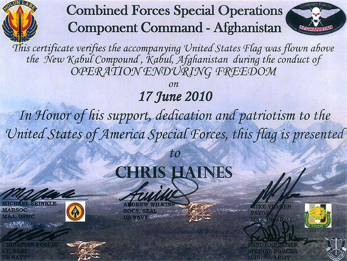 Flag Flown Certificate Template Fresh Chris Haines F Road Specialist About Us