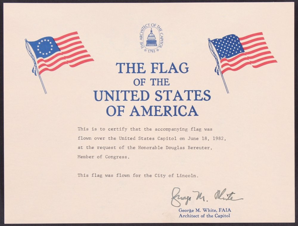 Flag Flown Certificate Template Fresh Line Sports Memorabilia Auction