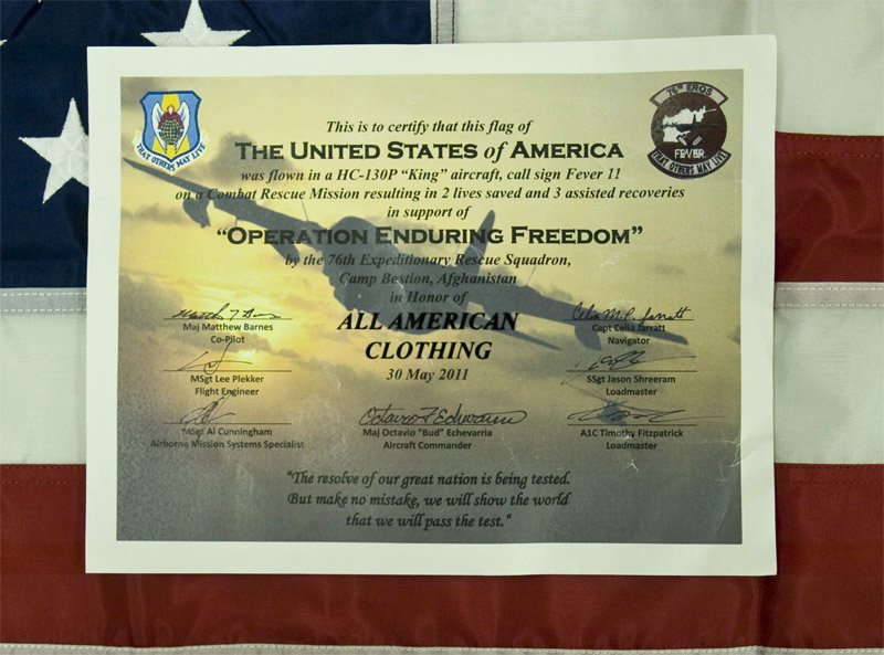 Flag Flown Certificate Template Unique to the Brave Americans In Afganistan – the 76th Ers