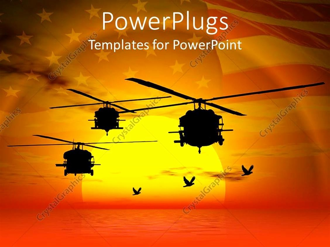 Flag Flying Certificate Template Unique Powerpoint Template Military Helicopters Flying Over Sea