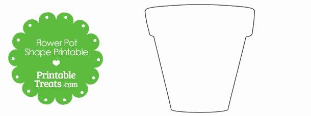 Flower Pot Template Fresh Printable Flower Pot Shape — Printable Treats