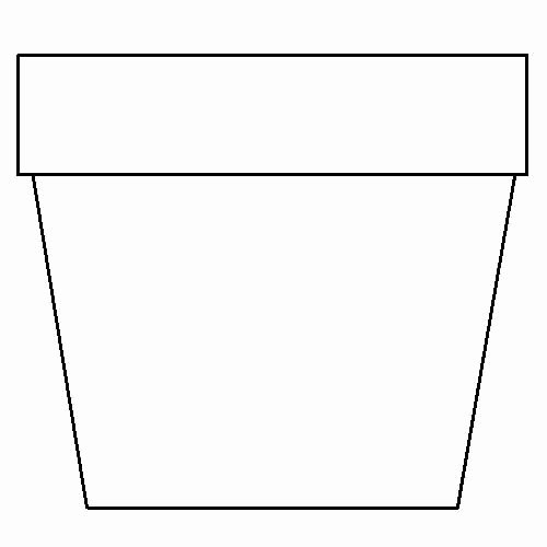 Flower Pot Template to Print Fresh Flower Pot Template Printable