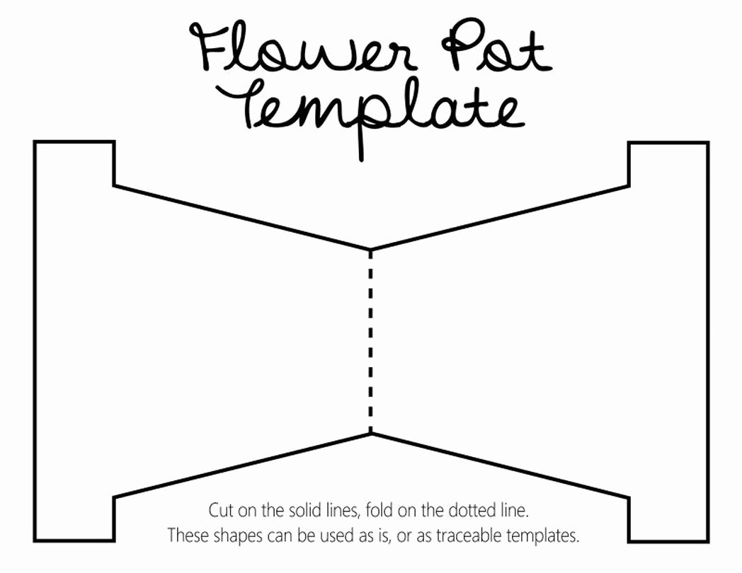 Flower Pot Template to Print Inspirational Karewares Diy Revisited Mother Day Flower Pot Template