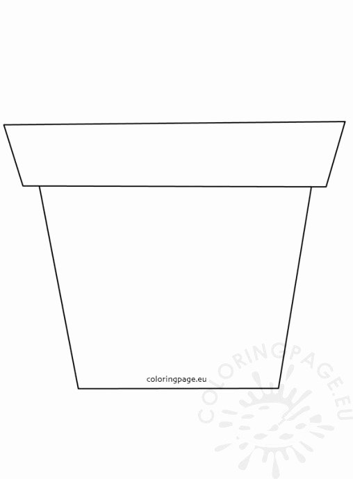 Flower Pot Template to Print Luxury Flowers Coloring Page
