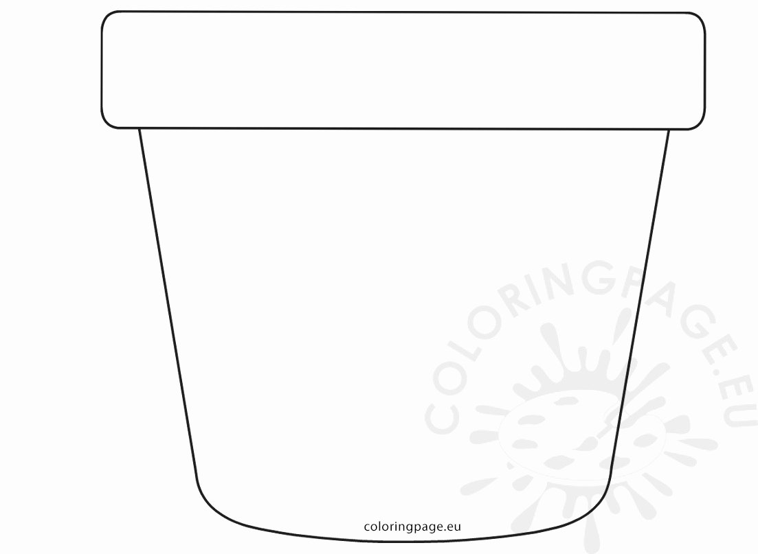Flower Pot Template Unique Printable Flower Pot Pattern Mother's Day Card – Coloring Page