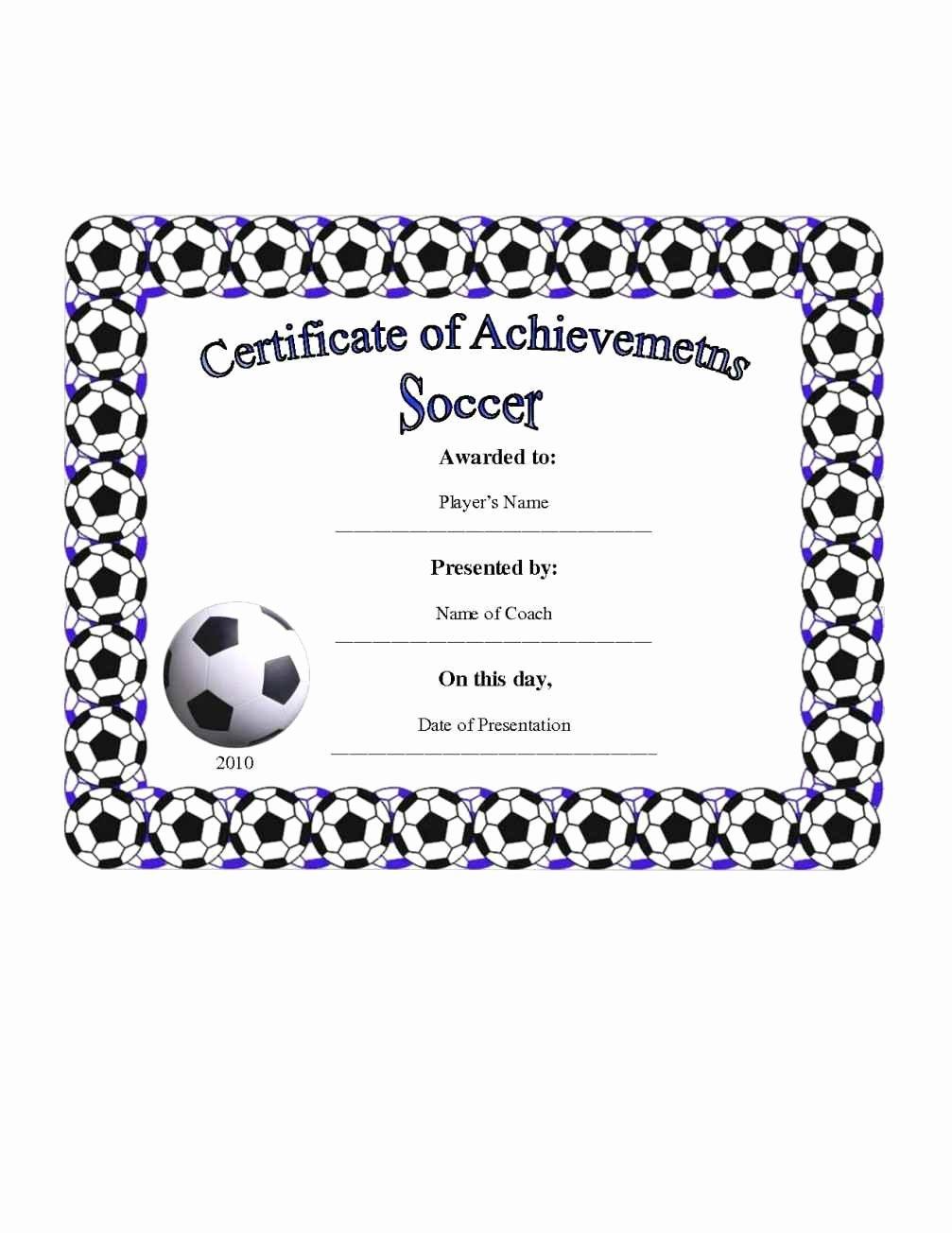 Football Award Certificate Template Beautiful Football Certificate Templates Template Update234
