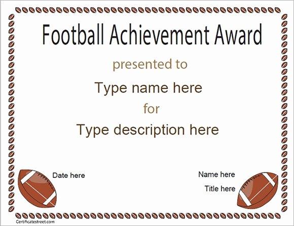 Football Award Certificate Template Luxury Free 16 Sample Football Certificate Templates In Pdf