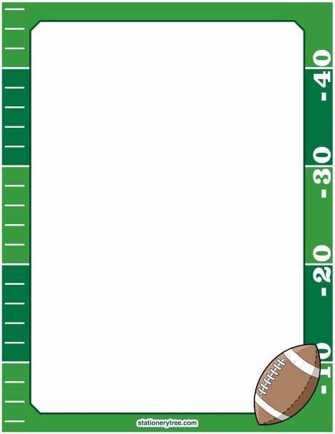 Football Border for Word Fresh Football Frames Clipart Png and Cliparts for Free Download