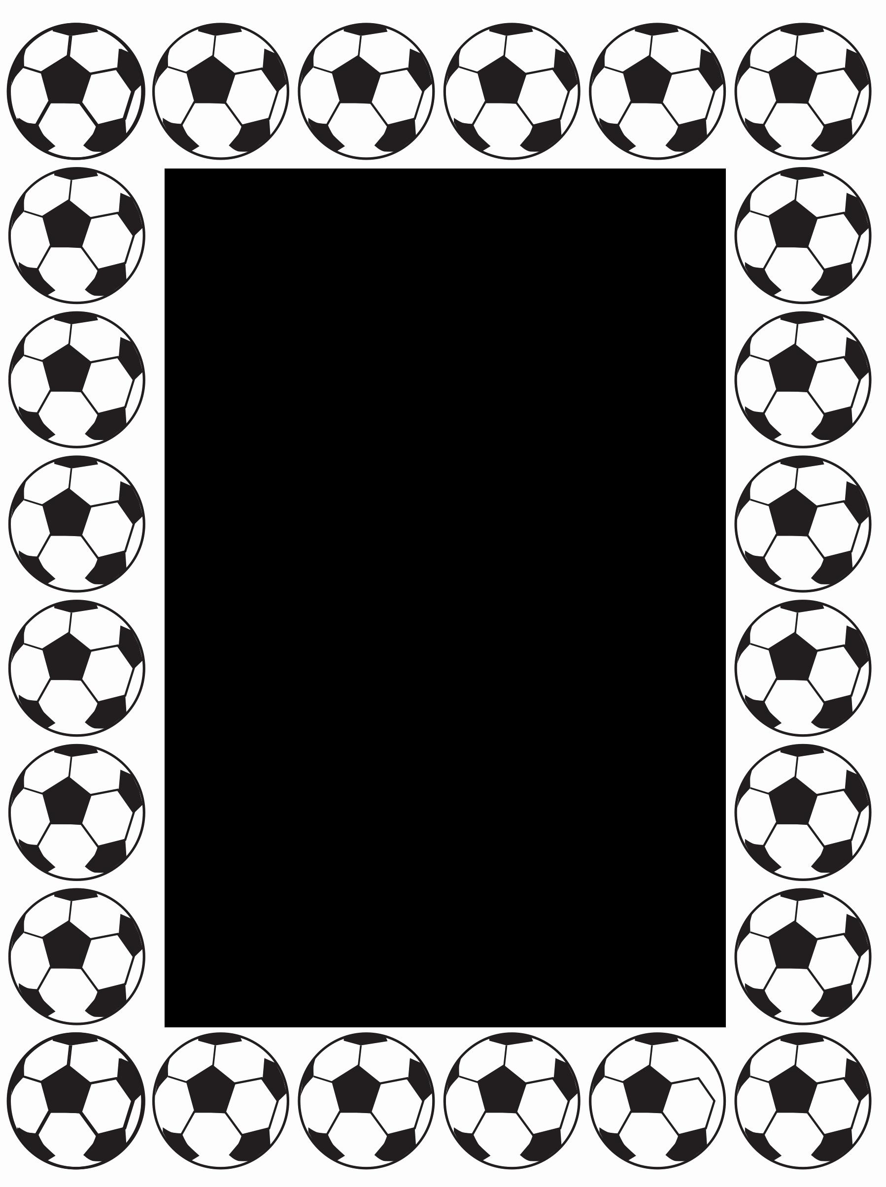 Football Border for Word Unique Free Football Frame Border