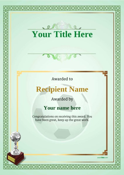 Football Certificate Template Free Awesome Free Uk Football Certificate Templates Add Printable
