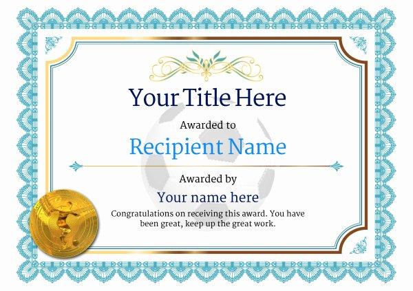 Football Certificate Template Free Beautiful Free Uk Football Certificate Templates Add Printable