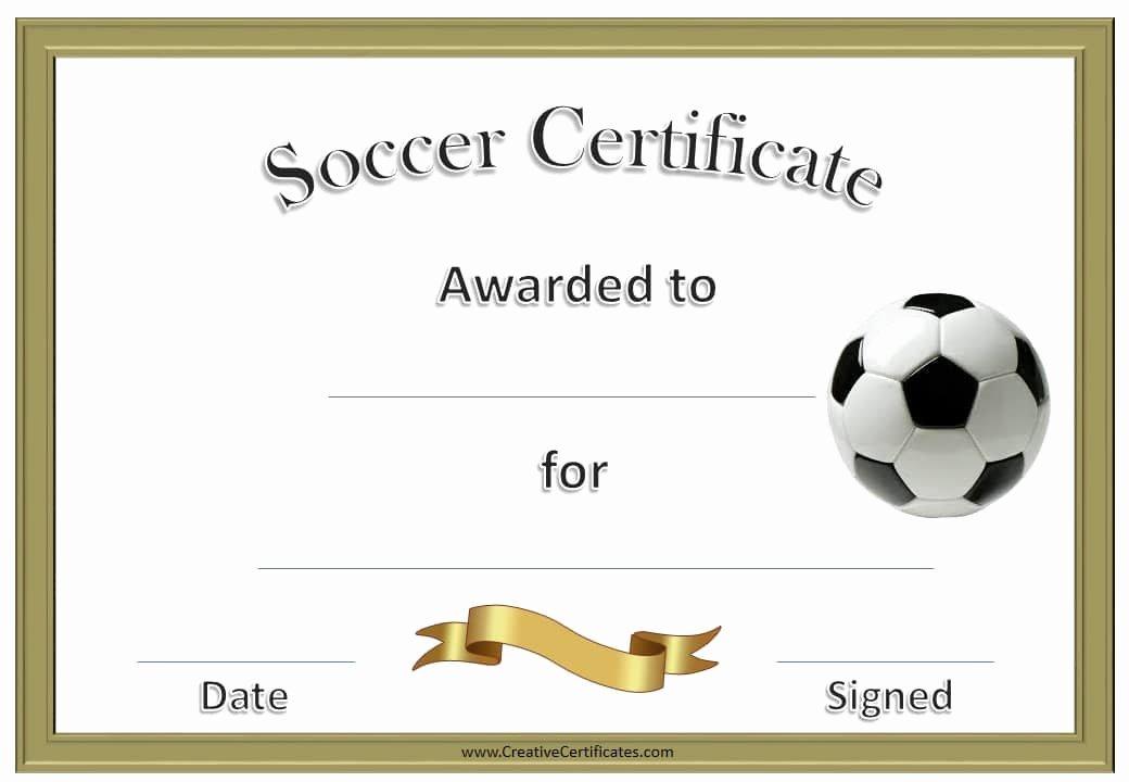 Football Certificate Template Free Elegant 13 soccer Award Certificate Examples Pdf Psd Ai