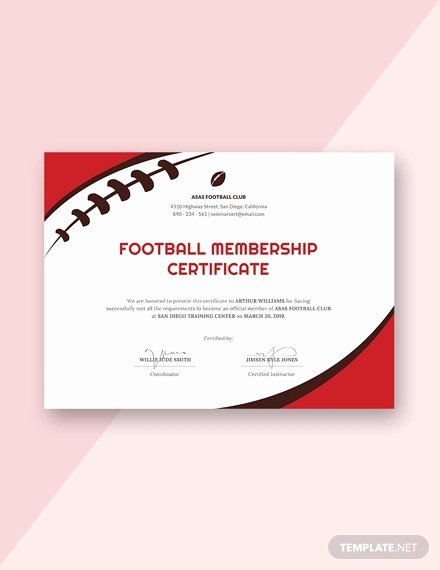 Football Certificate Template Free Inspirational 31 Sports Certificate Templates Word Pdf Ai Indesign