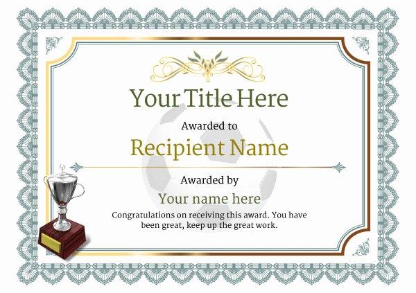 Football Certificate Template Free Inspirational Free Uk Football Certificate Templates Add Printable