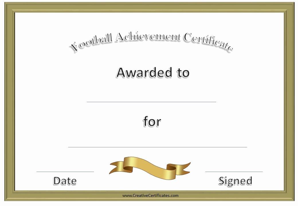 Football Certificate Template Free Lovely Football Awards Football Pinterest
