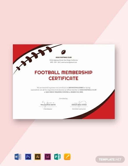 Football Certificate Template Free New 18 Free Sports Certificate Templates In Adobe Illustrator